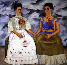The Two Fridas Playing